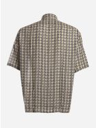 Fendi Oversized Shirt With All-over Ff Motif - Beige