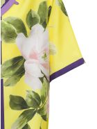 Valentino Bowling Shirt With Floral Print - Yellow