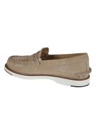 Tod's Exposed Stitching Logo Stamp Loafers - Beige