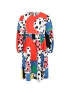 Stella McCartney Kids Multicolor Dress For Girl With Dalmatian Spots - Multicolor
