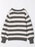 Douuod Striped Sweater - Anthracite