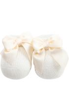 Story loris Ivory Baby Bootee For Babygirl - Ivory
