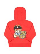 Moschino Red Sweatshirt For Babyboy With Logo - Poppy Red