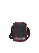 Alexander McQueen Mini Messenger Logo Bag - Black