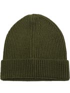 Marcelo Burlon Military Green Hat For Kids With Cross - Green