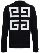 Givenchy Black Cotton Sweater With Logo - Black