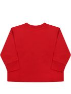 Ralph Lauren Red T-shirt For Baby Kids With Pony Logo - Red