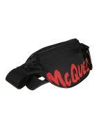 Alexander McQueen Logo Print Belt Bag - Blacklustred