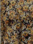 Saint Laurent Georgette Dress - Ocre mauve