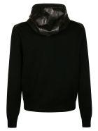 Tom Ford Shiny Leather Hooded Zip Jacket - Black