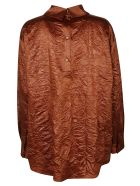 MSGM Rear Placket Asymmetric Plain Shirt - Bruciato