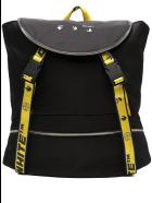 Off-White Man Black Logo Backpack