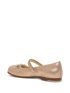 Gucci Glitter Flat Shoes With Horsebit Detail - Metallic