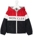 Moncler Tricolor Dard Newborn Jacket With Logo