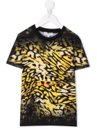 Givenchy Black Kids T-shirt With Animalier Print