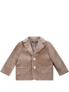 Little Bear Beige Jacket For Baby Boy - Brown