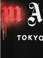 Palm Angels Sprayed Tokyo Printed T-shirt - Black Red