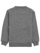 Il Gufo Grey Cotton Sweatshirt With Bear Print - Grey