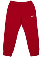 Emporio Armani Red Cotton Joggers With Logo - Red