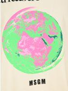"""MSGM """"fantastic Green"""" T-shirt - NEUTRALS"""