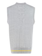 Universal Works Knitted Wool Vest - grey