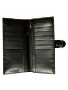 Saint Laurent Logo Plaque Long Wallet - Black
