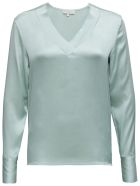 Antonelli Long-sleeved Shirt In  Green Silk - Green