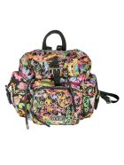 Versace Jeans Couture Eyelet Motif Printed Backpack - Multicolor