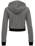 Balmain Monogram Cotton Hoodie - Black