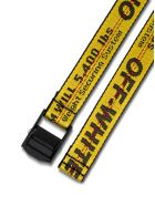 Off-White Industrial Belt In Black And Yellow Nylon - Yellow
