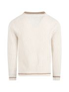Dondup Ivory Sweater For Boy - Ivory