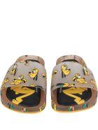 Melissa Beige Sandals For Kids With Pluto - Beige