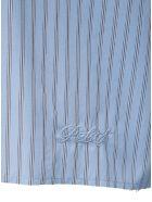 Philosophy di Lorenzo Serafini Striped Crop Shirt In Cotton Poplin - Blu
