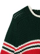 Gucci Green And Red Wool Jumper - Rosso+verde