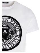 Balmain 'coin Flock' T-shirt - White