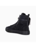 Prada Wheel Re-nylon Gabardine High-top Sneakers - Nero.