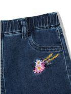 Monnalisa Dark Blue Stretch-cotton Shorts - Nero