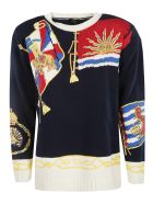 Etro Embroidered Sweater - Blu
