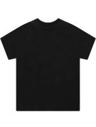Dsquared2 Black T-shirt For Baby Boy With Multicolor Logo - Black