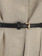 19.70 Nineteen Seventy Sleeveless Dress W/belt - Mud