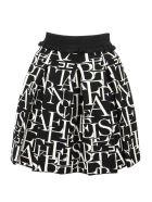 Elisabetta Franchi Knitted Mini Skirt - Black/white