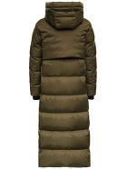 Herno Laminar  Long Down Jacket In Green Nylon - Green
