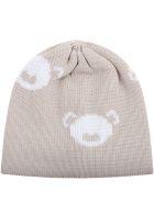 Little Bear Beige Hat For Babyboy - Beige