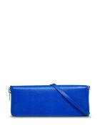 Balenciaga Rectangular Crossbody Bag In Blue Leather - Blu