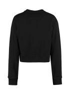 Fendi Cotton Crew-neck Sweatshirt With Logo - black