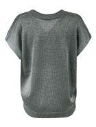 Brunello Cucinelli Cropped Sleeve V-neck Jumper - Grey
