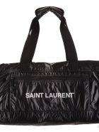Saint Laurent Black Duffle Nuxx Bag - Nero/argento