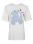 Chloé Clapping Hand Print T-shirt - White/Blue