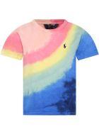 Ralph Lauren Multicolor T-shirt For Girl - Multicolor