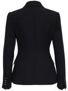 Dolce & Gabbana Black Wool Crepe Single Breasted Blazer - Black